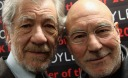 Sir Ian McKellen And Patrick Stewart Visit Foyles Bookshop